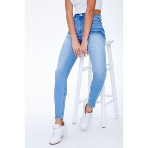 Forever 21 Blue Skinny High Rise Jeans